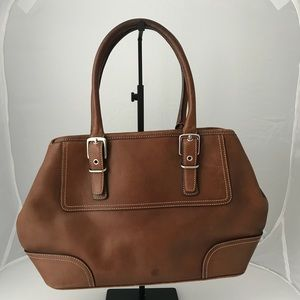 Coach Hampton 7555 Brown Top Handle Satchel